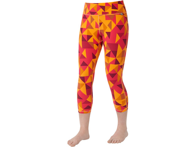 Mountain Equipment Cala Crop Leggings Mujer, orange sherbert
